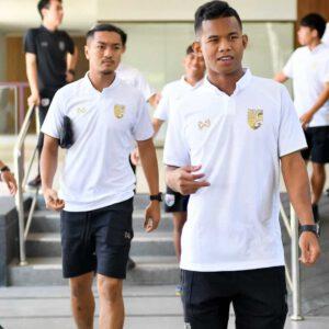 เสื้อโปโลช้างศึกทีมชาติไทย สีขาว-ทอง WA-19FT35M2-WN