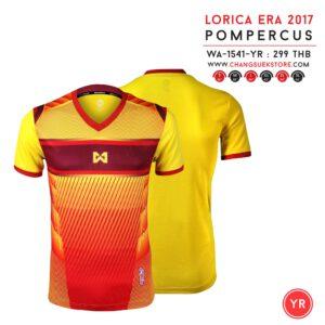 เสื้อฟุตบอล Warrix POMPERCUS สีเหลือง-แดง WA-1541-YR