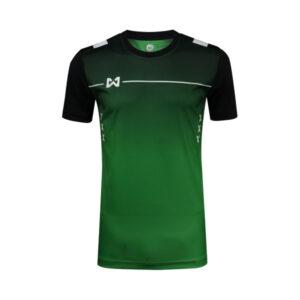 เสื้อฟุตบอล Warrix รุ่น Tripple-X สีเขียว-ดำ WA-1551-GA
