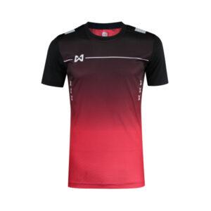 เสื้อฟุตบอล Warrix รุ่น Tripple-X สีแดง-ดำ WA-1551-RA