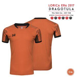 เสื้อฟุตบอล Warrix รุ่น Dragotula สีส้ม-ดำ WA-1552-OA