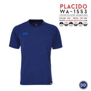 เสื้อฟุตบอล Warrix รุ่น Placido สีกรมท่า WA-1553-DD