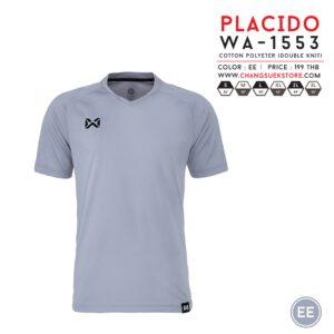 เสื้อฟุตบอล Warrix รุ่น Placido สีเทา WA-1553-EE