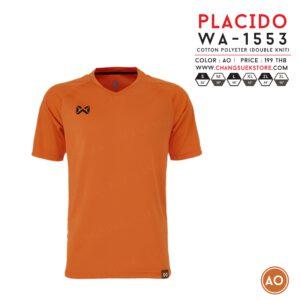 เสื้อฟุตบอล Warrix รุ่น Placido สีส้ม WA-1553-OO