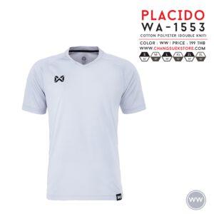 เสื้อฟุตบอล Warrix รุ่น Placido สีขาว WA-1553-WW
