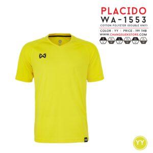 เสื้อฟุตบอล Warrix รุ่น Placido สีเหลือง WA-1553-YY