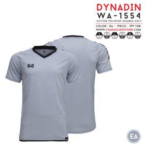 เสื้อฟุตบอล Warrix รุ่น Dynadin สีเทา-ดำ WA-1554-EA