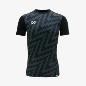 เสื้อฟุตบอลพิมพ์ลาย Warrix สีดำ WA-1555-AA