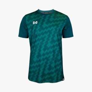 เสื้อฟุตบอลพิมพ์ลาย Warrix สีเขียว WA-1555-GG