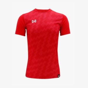 เสื้อฟุตบอลพิมพ์ลาย Warrix สีแดง WA-1555-RR