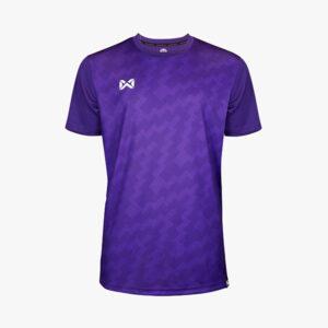 เสื้อฟุตบอลพิมพ์ลาย Warrix สีม่วง WA-1555-VV