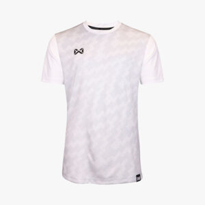 เสื้อฟุตบอลพิมพ์ลาย Warrix สีขาว WA-1555-WW
