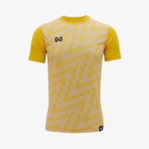 เสื้อฟุตบอลพิมพ์ลาย Warrix สีเหลือง WA-1555-YY