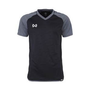 เสื้อฟุตบอล Warrix รุ่น Amando สีดำ-เทา WA-1556-AE