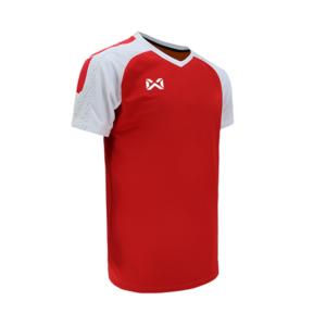 เสื้อฟุตบอล Warrix รุ่น Amando สีแดง-ขาว WA-1556-RW