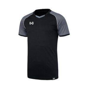 WARRIX เสื้อฟุตบอล รุ่น LONZO สีเทา-ดำ WA-1558-EA