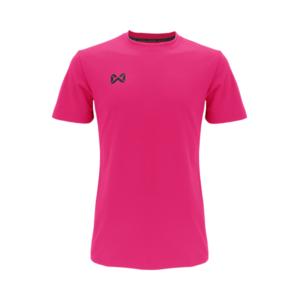 เสื้อฟุตบอลคอกลม Warrix สีชมพู WA-1559-PP