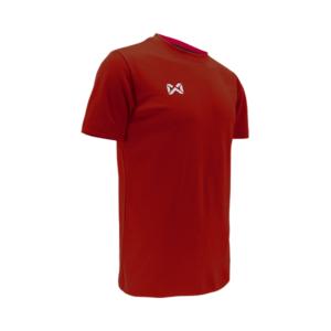 เสื้อฟุตบอลคอกลม Warrix สีแดง WA-1559-RR