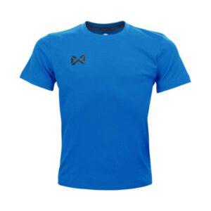 เสื้อฟุตบอลคอกลมเด็ก WARRIX สีฟ้า WA-1559K-LL