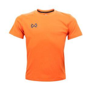 เสื้อฟุตบอลคอกลมเด็ก WARRIX สีส้ม WA-1559K-OO