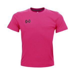 เสื้อฟุตบอลคอกลมเด็ก WARRIX สีชมพู WA-1559K-PP