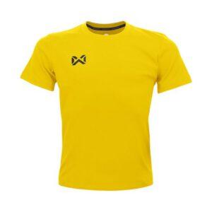 เสื้อฟุตบอลคอกลมเด็ก WARRIX สีเหลือง WA-1559K-YY