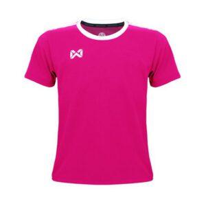 เสื้อฟุตบอลเด็ก WARRIX สีชมพู-ขาว WA-1560K-PW