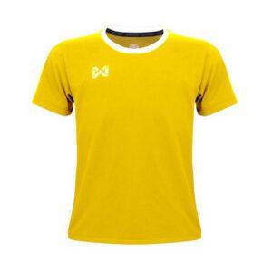 เสื้อฟุตบอลเด็ก WARRIX สีเหลือง-ขาว WA-1560K-YW