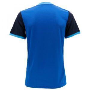 เสื้อฟุตบอลพิมพ์ลาย Warrix สีน้ำเงิน-กรมท่า WA-1564-BD