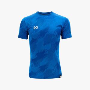 WARRIX เสื้อฟุตบอลทอลาย Camo สีน้ำเงิน WA-1567-BB