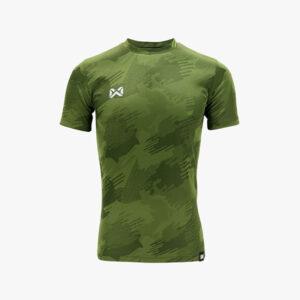 WARRIX เสื้อฟุตบอลทอลาย Camo สีเขียว WA-1567-GG