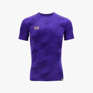WARRIX เสื้อฟุตบอลทอลาย Camo สีม่วง WA-1567-VV