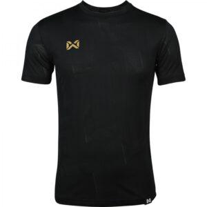 เสื้อฟุตบอลคอกลมแขนสั้น ลาย Pulse สีดำ WA-1569-AA