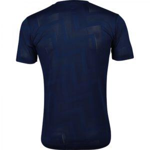 เสื้อฟุตบอลคอกลมแขนสั้น ลาย Pulse สีกรมท่า WA-1569-DD