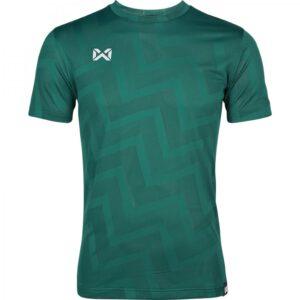 เสื้อฟุตบอลคอกลมแขนสั้น ลาย Pulse สีเขียว WA-1569-GG