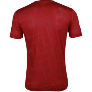 เสื้อฟุตบอลคอกลมแขนสั้น ลาย Pulse สีเลือดหมู WA-1569-MM