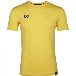 เสื้อฟุตบอลคอกลมแขนสั้น ลาย Pulse สีเหลือง WA-1569-YY