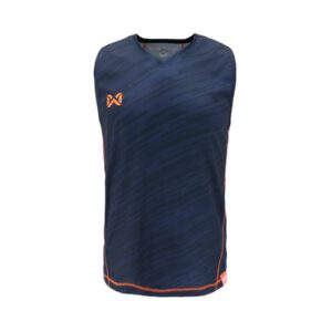เสื้อวิ่งแขนกุด WARRIX สีน้ำเงิน WA-1607-DD