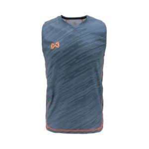 เสื้อวิ่งแขนกุด WARRIX สีเทา WA-1607-EE