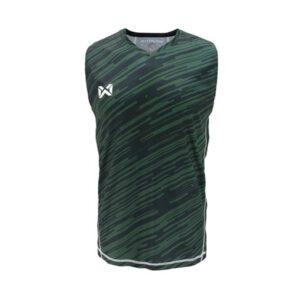 เสื้อวิ่งแขนกุด WARRIX สีเขียว WA-1607-GG