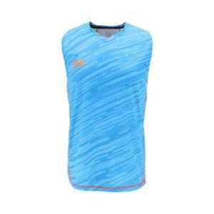 เสื้อวิ่งแขนกุด WARRIX สีฟ้า WA-1607-LL