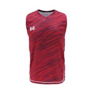 เสื้อวิ่งแขนกุด WARRIX สีแดง WA-1607-RR