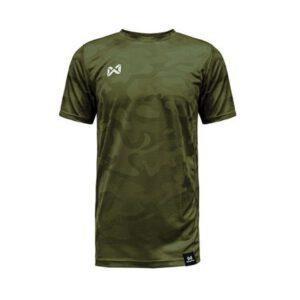 เสื้อฟุตบอล Warrix รุ่น CAMO สีเขียว WA-18FT12M1-GG