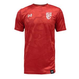 WARRIX เสื้อฟุตบอล รุ่น CAMO พร้อมโลโก้ทีมชาติไทย สีแดง WA-18FT12M2-RR