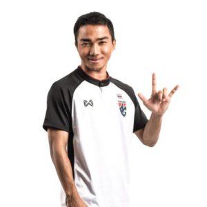 เสื้อทีมชาติไทย ปี 2018 สีขาว-ดำ WA-18FT52M-WA