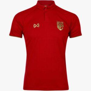 เสื้อโปโลช้างศึกทีมชาติไทย สีแดง-ทอง WA-19FT35M2-RN