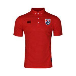 เสื้อโปโลช้างศึก ทีมชาติไทย สีแดง WA-3315NFTM2-RR