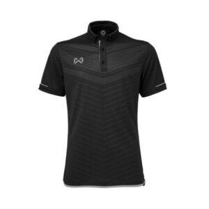 เสื้อโปโล WARRIX สีดำ-เทา WA-3318N-AE