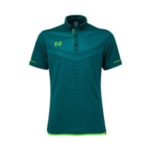 เสื้อโปโล WARRIX สีฟ้าน้ำทะเล-เขียวสะท้อน WA-3318N-IG