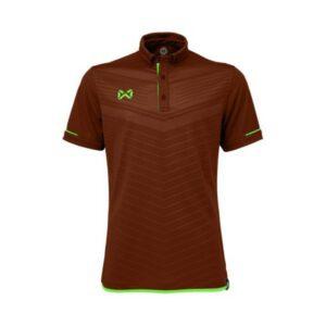 เสื้อโปโล WARRIX สีเลือดหมู-เขียว WA-3318N-MG